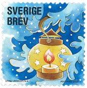 Sverige - Julefrimærke - Postfrisk frimærke fra rulle
