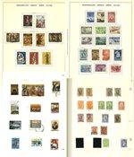 Grecia - Colección en 2 álbumes aprox. 1860-1977