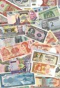 Diverse lande - 57 forskellige pengesedler