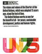 Nations Unies New York - NU 75 ans - Bloc-feuillet neuf