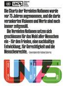 FN - 75-året for FN - Wien - Postfrisk miniark