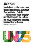 Nations Unies Genève - NU 75 ans - Bloc-feuillet neuf
