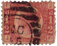 Great Britian - Halfpenny red - Plate 20 - Cancelled