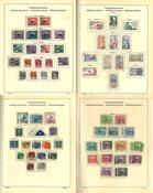 Checoslovaquia - Colección 1918-74 en el álbum Schaubek