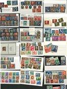 Østtyskland - Samling på 18 indstikskort