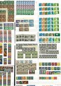 Irland - Postfrisk samling på 16 indstikskort, med  dubletter