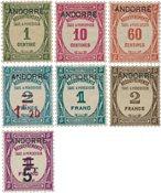 Andorra 1931/1932 - YT T9/T15 - Ubrugt