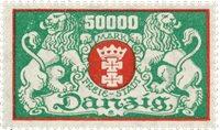 Tyskland/Danzig 1923 - Michel 149F - Postfrisk