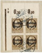 Tyskland stater 1919 - Michel 152 3x + 152 AI - 4 blok - Stemplet