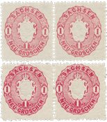 Tyskland stater 1863/1866 - MICHEL 16a+b i par - Postfrisk