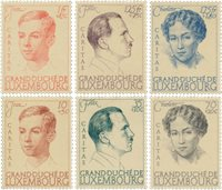 Luxembourg 1939 - Michel 333/338 - Neuf avec charnières