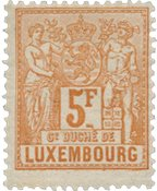 Luxembourg 1882 - Michel 56 - Neuf avec charnières