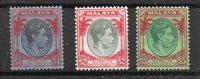 Colonie britanniche 1938 - Mic 225-227 - nuovo linguellato