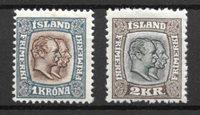 Islande 1907 - AFA 60 - 61 - Neuf avec charnières