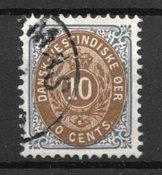 Dansk Vestindien 1901 - AFA  11B - Stemplet