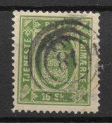 Danimarca 1871 - Tj. 3 - timbrato