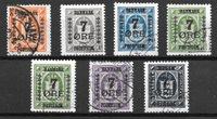 Danemark 1926 - AFA 160-166 - Oblitéré