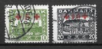 Danimarca 1921 - AFA 120-121 - timbrato