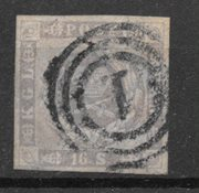 Danmark 1857 - AFA 6 - Stemplet