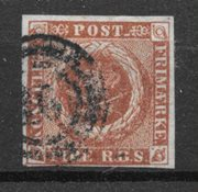Danimarca 1854 - IIIe - timbrato