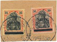 Allemagne / Sarre 1920 - Michel 9/10 - Oblitéré