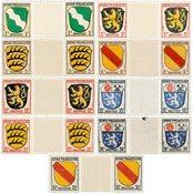 Tyskland Zoner 1945 - Michel 1/4+6/10 - Postfrisk