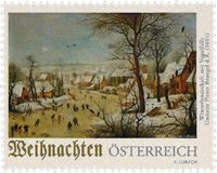 Østrig - Vinterlandskab - Postfrisk frimærke