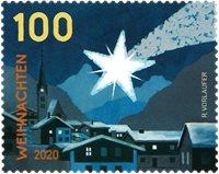 Østrig - Julestjerne - Postfrisk frimærke