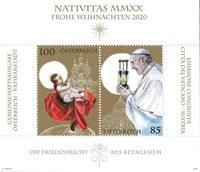 Autriche - Noël 2020 - Bloc-feuillet neuf
