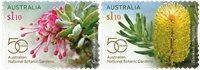 Australien - Botaniske haver - Postfrisk selvkl. sæt 2v