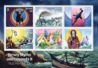 Jersey - Myter og legender II - Postfrisk miniark