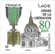 France - Liberation medal - Mint stamp