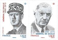 Frankrig - Charles De Gaulle - Postfrisk frimærke