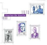 Frankrig - Charles de Gaulle - Postfrisk miniark