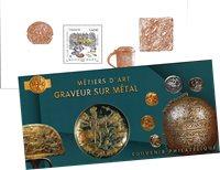 France - Gravure métallique - Bloc-feuillet neuf en pochette