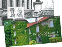 France - De Gaulle - Mint souvenir sheet in folder