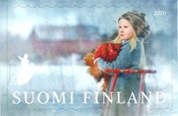 Finlande - Fille avec une luge - Timbre neuf