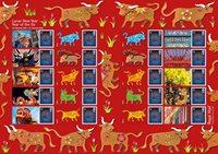 England - Oksens år - Postfrisk ark