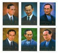 Thailand - 60-året for tronbestigelsen - Postfrisk sæt 6v
