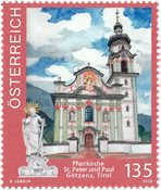 Autriche - Eglise Götzens - Timbre neuf