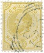 Nederland - 60 ct olijfgeel Willem III (nr. 10, gebruikt)