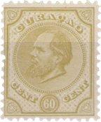 Curacao - 60 ct olijfgeel Willem III (nr. 10, ongebruikt)