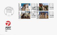 Grønland - Frankeringsmærker Slædehundehvalpe - Førstedagskuvert