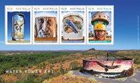 Australien - Vandtårne kunst - Postfrisk miniark