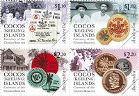 Cocos Keeling - Møntsort - Postfrisk sæt 4v