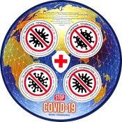 Tayikistán - Stop COVID-19 - Hoja bloque nuevo 4v