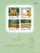 Thailand - Buddha figur 100 år - Postfrisk miniark