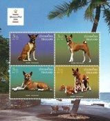 Thailand - Hunde udstillingsminiark - Postfrisk miniark