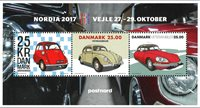 Danmark - Nordia 2017 udstillingsovertryk - Postfrisk miniark