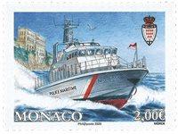 Monaco - Ny båd til Monacos marine og lufthavns  politi - Postfrisk frimærke